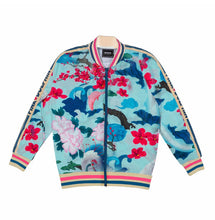 Load image into Gallery viewer, Japanese Garden Track Jacket In Lt. Blue