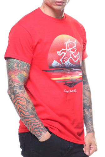 Sunset Jack SS Tee In Red