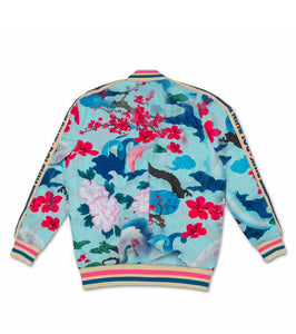 Japanese Garden Track Jacket In Lt. Blue
