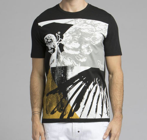 Cherub Angel Wing Tee (Black)