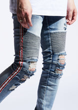 Load image into Gallery viewer, Khalil Biker Denim (Blue)
