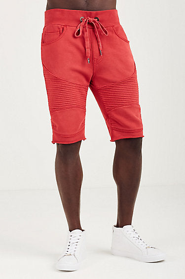 Moto Sweatshorts (Ruby Red)