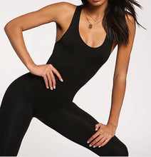 Load image into Gallery viewer, Scoop Leotard Jumpsuit (Black)