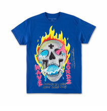 Load image into Gallery viewer, Wavelordz Skull Tee in Blue