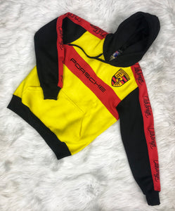 ClubForeign Porsche Embroidered Sweatsuit (Yellow/Black/Red)