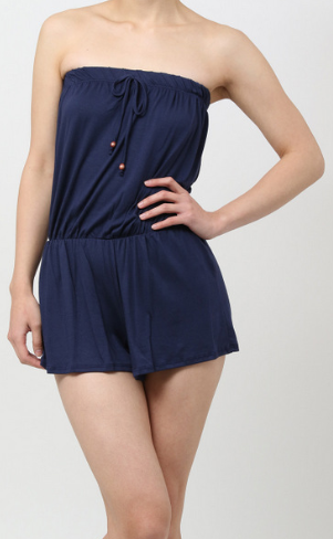 Sleeveless Romper (Navy)