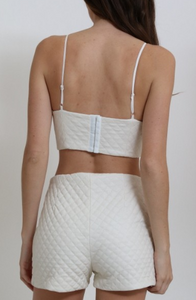 2 Piece High Waist Set (Off White)