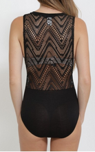 Load image into Gallery viewer, Netted Bodysuit (Black)