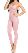 Load image into Gallery viewer, Suede Jumpsuit (Blush)