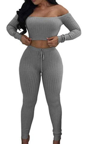 2 Piece Pants Set (Grey)