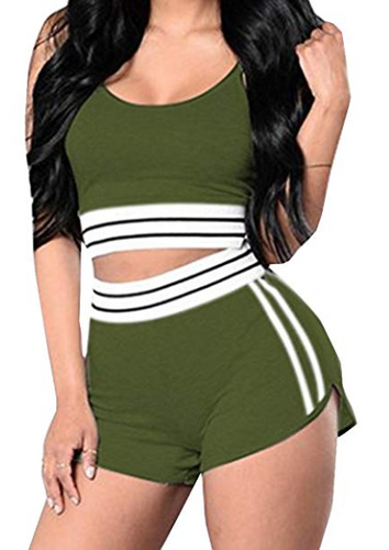 2 Piece Short Set (Olive)