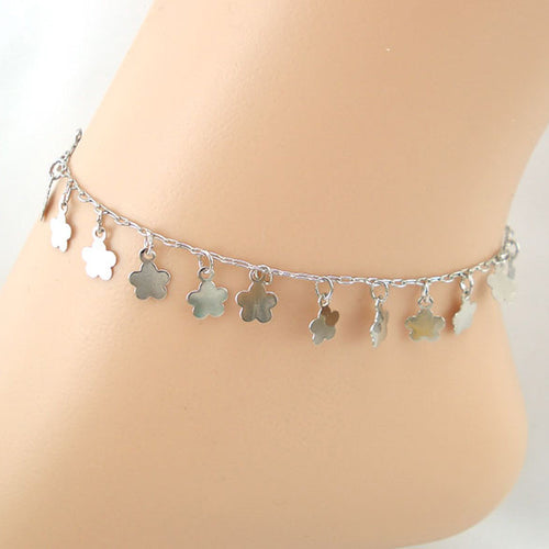 Plum Flowers Women Ankle Bracelet