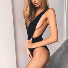 One Piece Simple Sexy Backless Deep V Neck BodySuit