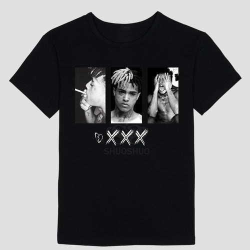 XXXTENTACION Men's Black Tees Shirt