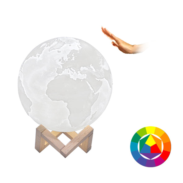 Cosmic Rechargeable 3D Print LED Earth Lamp - NerdAbstract