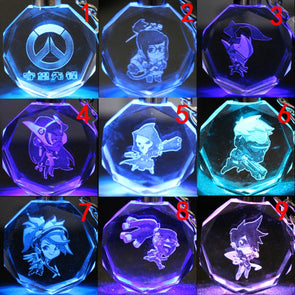 OVERWATCH LED Crystal Keychains - NerdAbstract