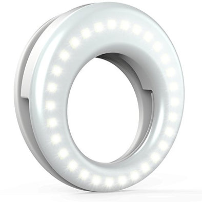 Selfie Light Ring LED Circle Photography Video Lighting Clip On - NerdAbstract