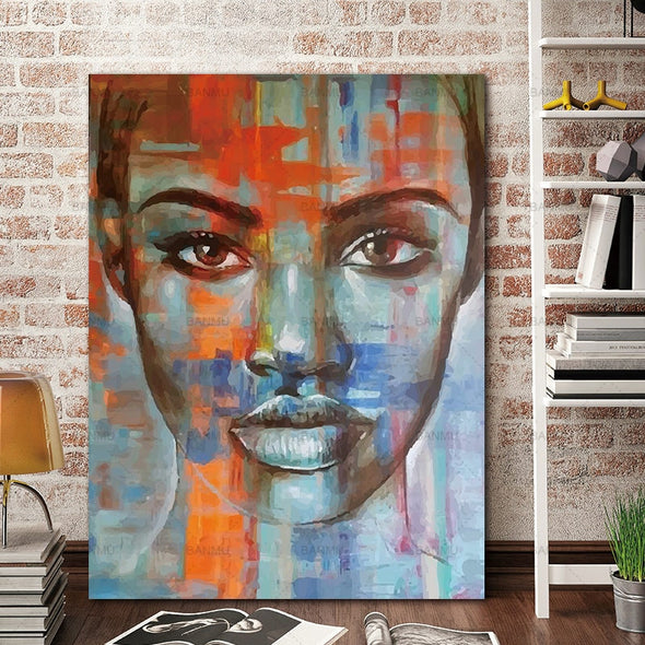 Abstract Wall Portrait Canvas - NerdAbstract