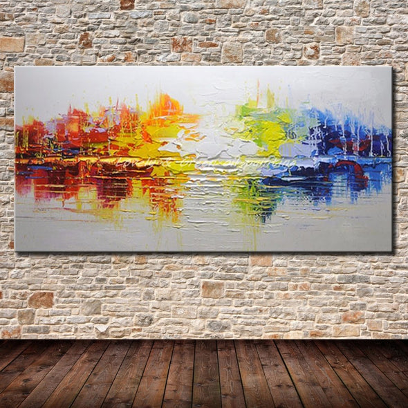 Modern Abstract Oil Painting On Canvas - NerdAbstract