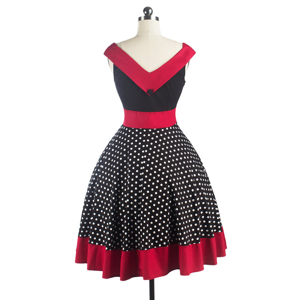 Vintage Rockabilly Retro Swing Pinup Women Dress - NerdAbstract