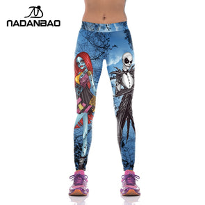 Stretchable Halloween Concept Jack Skellington Leggings Women - NerdAbstract