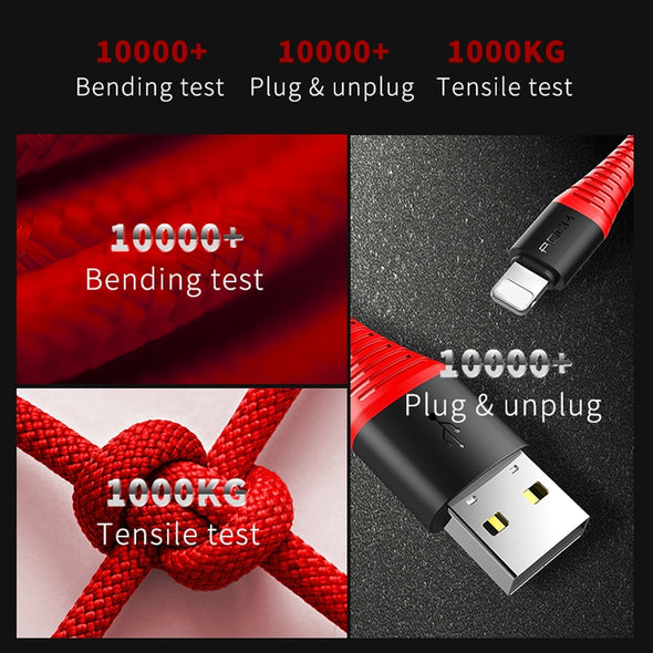 Hi-Tensile USB Lightning Cable For Apple iPhones (X, 8, 7, 6, All plus versions) - NerdAbstract