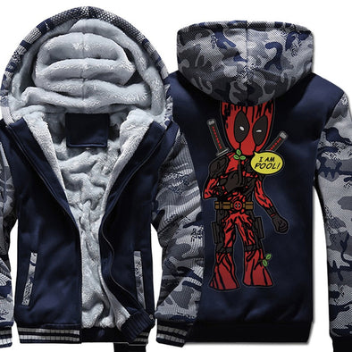Unique Deadpool Groot Jacket - I AM POOL! - NerdAbstract