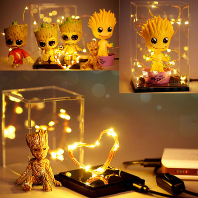 Guardians of the Galaxy Groot Rocket Light Box Home and Office
