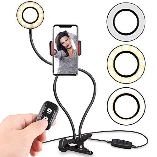 Selfie Ring Light with Cell Phone Holder Stand for Live Stream - NerdAbstract
