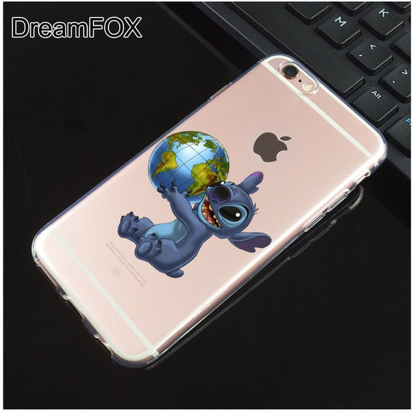 Lilo & Stitch Soft Silicone  Case Cover For Apple iPhone X 8 7 6 6S Plus - NerdAbstract