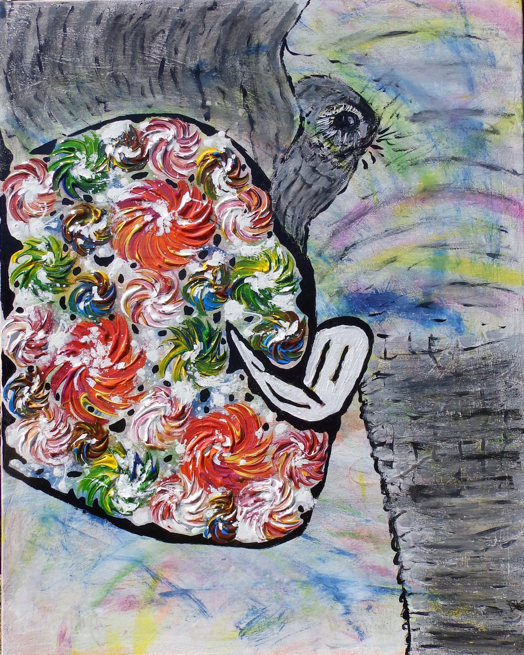 Tuskerson the Elephant - Animals Collection by Janet Watson Art Designs xx