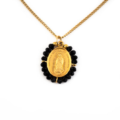 La Virgen Necklace (Black)
