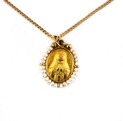 La Virgen Necklace (white)