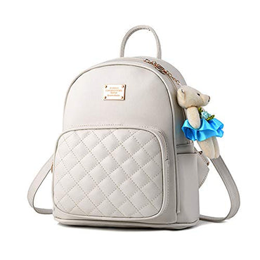 c0d3dd4b4e4b ABage Girl s Mini Backpack Casual Faux Leather Studded Floral Travel ...