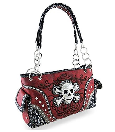 Zzfab Embroidered Concealed Carry Rhinestone Studded Skull Zzfab Embroidered  Concealed Carry Rhinestone Studded Skull 77b81addae146