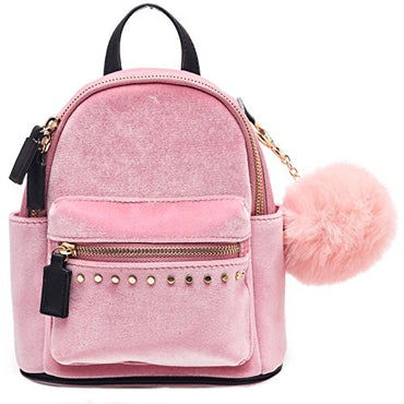 64fa79685523 Dream Control Ultra Soft Velvet w Pom Pom Mini Backpack Shoulder ...