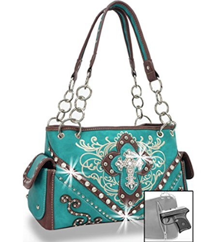 Zzfab Cross Embroidered Western Handbag Rhinestone – Maxo Cart 5bd8b031baf4c