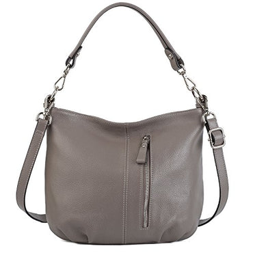 e062532bcc4b YALUXE Women s Front Pocket Soft Cowhide Leather Small Mini Purse Hobo  Style Shoulder ...