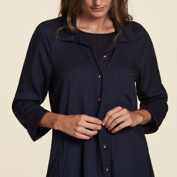 Mantel Tencel Navy NILE