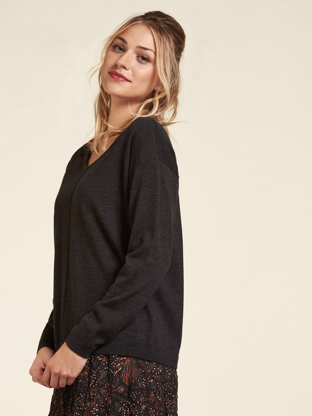 Pullover Wolle Black NILE
