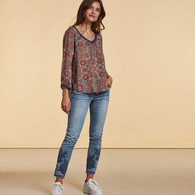 Bluse Baumwolle Red NILE