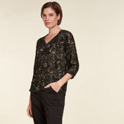 Bluse Viskose Black Dots NILE