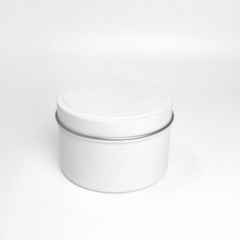 White Tin Candles