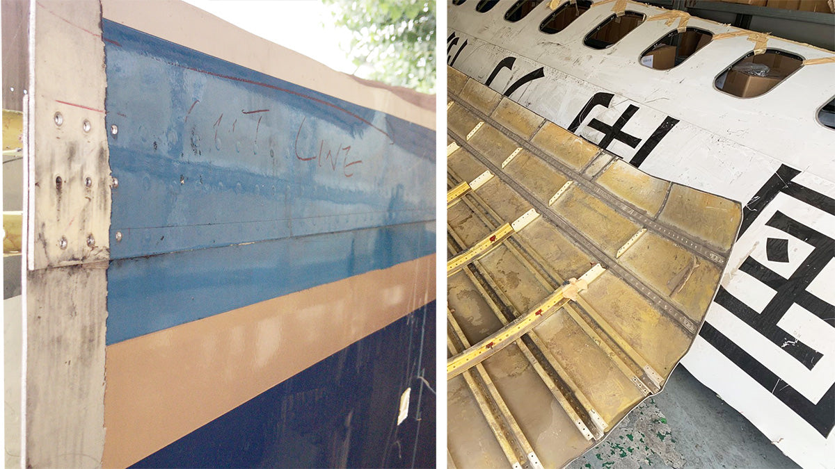 Original Aircraft Skin Tag Boeing 757 China Southern B-2830