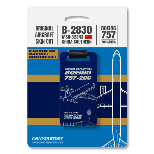 Boeing 757 B-2830 Original Aircraft Tag - Dark Blue Pack