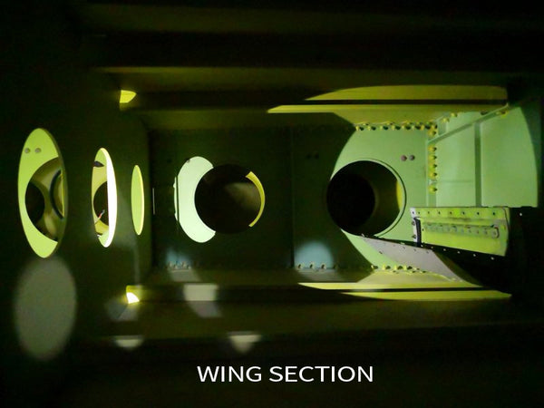 Airbus A380 wing box inside view