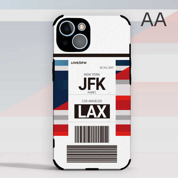 AA American Airlines color Baggage Ticket design perfect for aviation geeks crew pilot apple iphone huawei samsung xiaomi