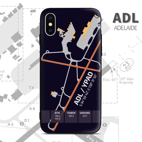 Australia Airport Diagram Adelaide Phone Case aviation gift pilot iPhone Andriod Apple Samsung Huawei Xiaomi