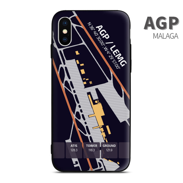 Malaga AGP Airport Diagram Phone Case aviation gift pilot iPhone Andriod Apple Samsung Huawei Xiaomi