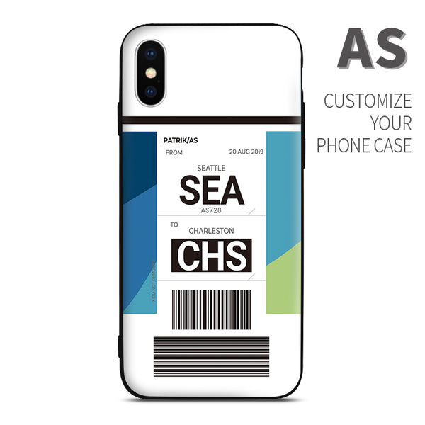 AS Alaska Airlines color Baggage Ticket design perfect for aviation geeks crew pilot apple iphone huawei samsung xiaomi
